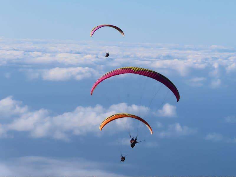 volar en parapente en tenerife